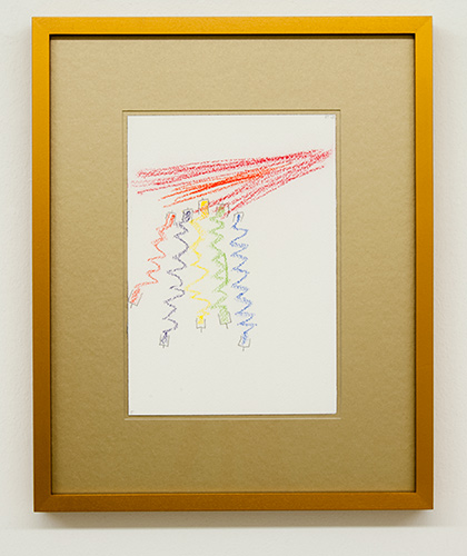 Richard Tuttle / Fake Gold No. 5  2015  each 43 x 34.5 cm / 34.5 x 43 cm pastel and pencil on paper