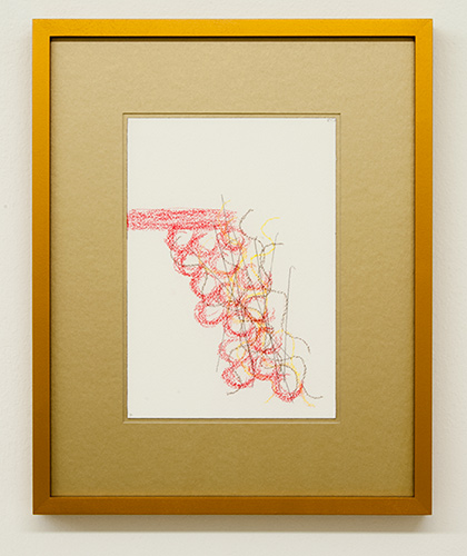 Richard Tuttle / Fake Gold No. 7  2015  each 43 x 34.5 cm / 34.5 x 43 cm pastel and pencil on paper