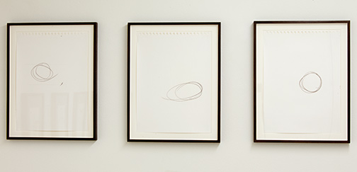 Richard Tuttle / Three Part, No. 1-3  2012  paper, each: 35.6 x 28 cm framed, each: 40.7 x 33.8 cm mixed media on paper