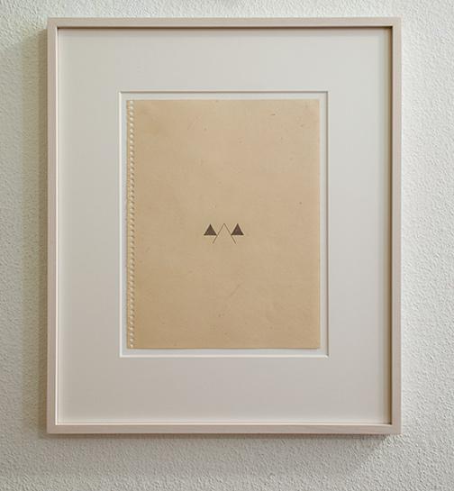 Richard Tuttle / Helios  1975  28 x 21.5 cm pencil on paper