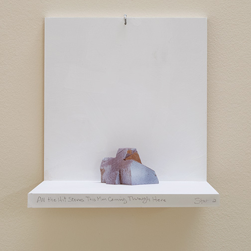 Richard Tuttle / All The Hit Stores This Man Coming Through Here Stars #2  2019  6.5 x 9 x 8 cm painted wood