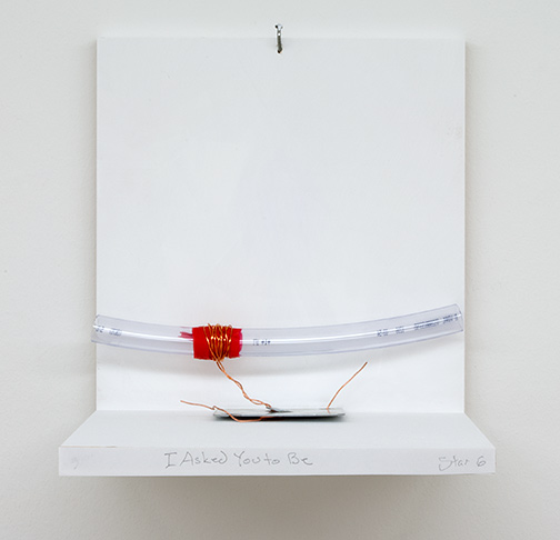 Richard Tuttle / I Asked You To Be Stars #6  2019  9.5 x 30 x 10.2 cm metal plate, wire, tape and plastic tube