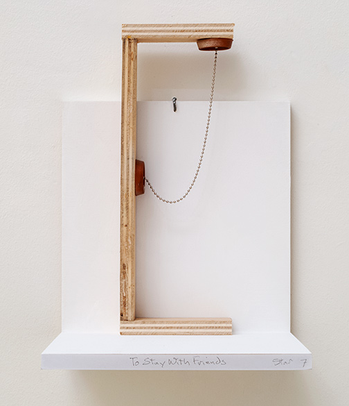 Richard Tuttle / To Stay With Friends Stars #7  2019 40.2 x 14.5 x 5 cm wood, plastic and chain