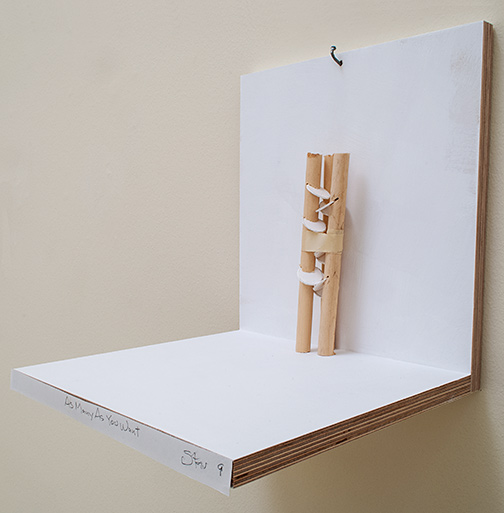 Richard Tuttle / As Many As You Want Stars #9  2019 20.5 x 5 x 5.5 cm wood, cardboard and tape