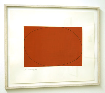 Robert Mangold / Distorted Ellipse / Rectangle  1972  38.3 x 45.5 cm acrylic and pencil on paper