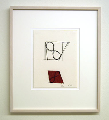 Robert Mangold / Untitled  1991  21.7 x 16.5 cm ink and crayon on paper
