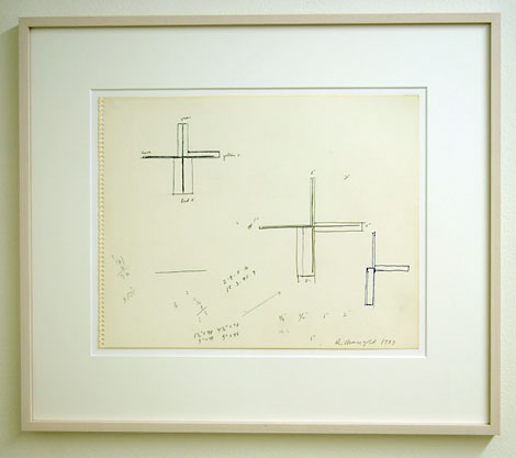 Robert Mangold / Untitled  1983  28 x 35.6 cm ink and crayon on paper