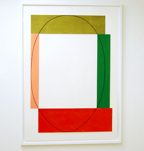 "Robert Mangold / Four Color Frame Painting #17  1985  111.76 x 78.74 cm  /  44 x 31 "" Acrylic and black pencil on paper"