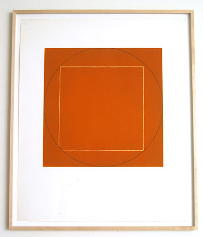 "Robert Mangold / Portfolio of 7 aquatints  1973  68.4 x 56.3 cm  /  36 x 36.75 "" aquatint Ed. 21/50; #2"
