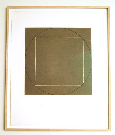 "Robert Mangold / Portfolio of 7 aquatints  1973  68.4 x 56.3 cm  /  36 x 36.75 "" aquatint Ed. 21/50; #3"