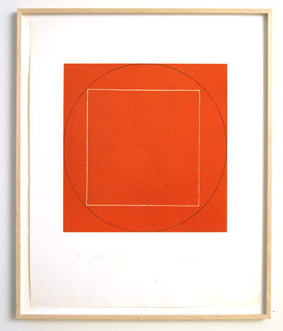 "Robert Mangold / Portfolio of 7 aquatints  1973  68.4 x 56.3 cm  /  36 x 36.75 "" aquatint Ed. 21/50; #5"