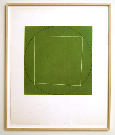 "Robert Mangold / Portfolio of 7 aquatints  1973  68.4 x 56.3 cm  /  36 x 36.75 "" aquatint Ed. 21/50; #7"