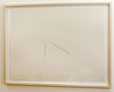 "Fred Sandback / Untitled  1980 57.1 x 76.2 cm / 9.5 x 10.25 "" Ink and pencil on paper FLS 0086"