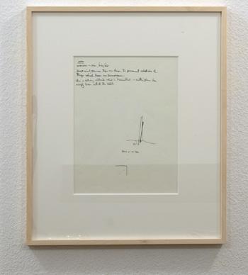 """Fred Sandback / Untitled  1974 20.6 x 30.5 cm / 8 1/8 x 12 """" Felt tip pen on sketchbook paper FLS 0852"""