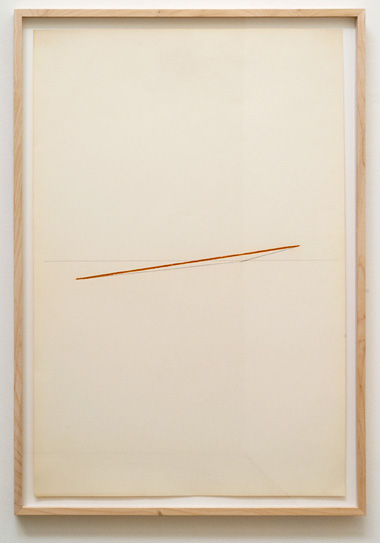 "Fred Sandback / Untitled  1974  88.9 x 58.7 cm  /  35 x 23.125 "" pastel and pencil on paper FLS 0386"