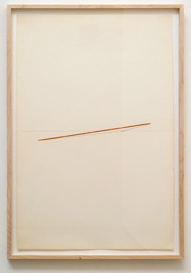 "Fred Sandback / Untitled  1974  88.9 x 58.7 cm / 35 x 23.125 "" pastel and pencil on paper FLS 0386"