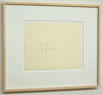 Fred Sandback / Untitled  1974  21.6 x 27.9 cm Pencil on paper FLS 0170
