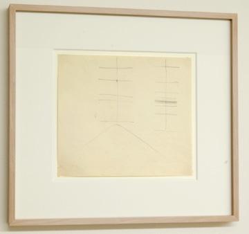 """Fred Sandback / Untitled  (Corner Studies) 1971  20.3 x 23.5 cm / 9.5 x 10.25 """" Pencil on paper FLS 0947"""