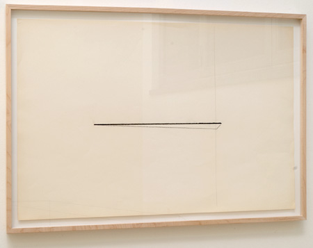 "Fred Sandback / Untitled  1974  58.7 x 88.9 cm  /  23.125 x 35 "" Pastel and pencil on paper FLS 0384"