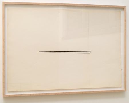 "Fred Sandback / Untitled  1974  58.7 x 88.9 cm / 23.125 x 35 "" Pastel and pencil on paper FLS 0384"