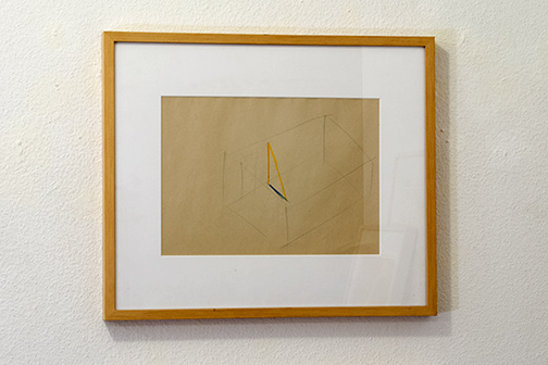 Fred Sandback / Untitled     21 x 29 cm pencil and color crayon on paper