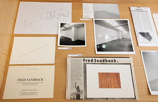 Fred Sandback / Fred Sandback und Annemarie Verna Galerie. Eine Zusammenarbeit 1971 bis 2003.