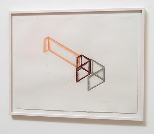 Fred Sandback / Untitled  1988  56.5 x 76.5 cm pastel on paper  Annemarie Verna Galerie Scheuchzerstrasse 35
