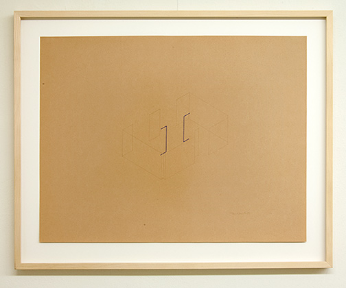 Fred Sandback / Untitled  1981  50 x 65 cm pencil and colored crayon on cream paper Annemarie Verna Gallery Mühlegasse 27