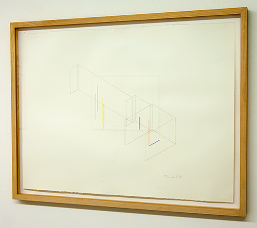 Fred Sandback / Untitled  1988  56 x 76 cm colored crayon on paper Annemarie Verna Galerie Scheuchzerstrasse 35