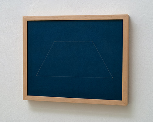 Fred Sandback / Untitled  1966 / 1976  22 x 28 cm blueprint