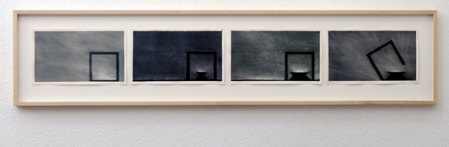 Robert Wilson / Robert Wilson (*1941) Siegfried  2001  4 sheets each 8 x 25.5 cm (26 x 117 cm) aquacolor on paper