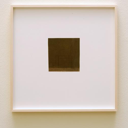 James Bishop / James Bishop (*1927) Untitled  2012  12.9 x 11.8 cm Oil and crayon on paper