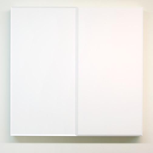 Andreas Christen / Andres Christen (1936-2006) Ohne Titel  1988 82 x 84 x 8.5 cm MDF, white paint sprayed