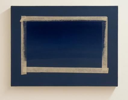 Sylvia Plimack-Mangold / Sylvia Plimack Mangold (*1938) One Stroke  1979 Oil on canvas 38 x 50.7 cm
