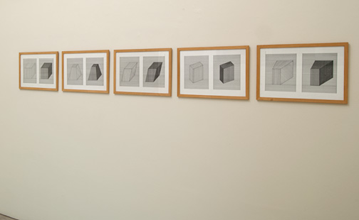 Sol LeWitt / Sol LeWitt (1928-2007) 5 Drawings for Moderna Museet  1983  32.5 x 50 cm Pencil and ink on paper
