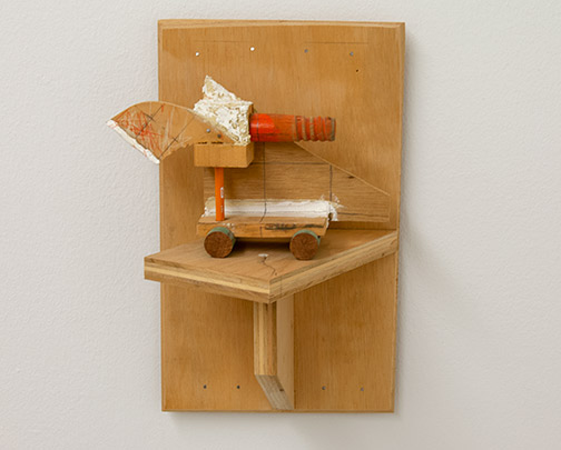 Richard Francisco / Richard Francisco Entrare, Amore, Uscita (two parts)  1998  33 x 21.6 x 19 cm   wood, blaster, graphite, and enamelpaint