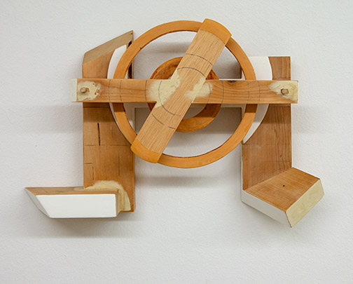 Richard Francisco / Richard Francisco Forma Storma  1998  53.3 x 30.5 x 11.4 cm   wood (pine), plywood, gesso, rabbit skin glue and enamelpaint