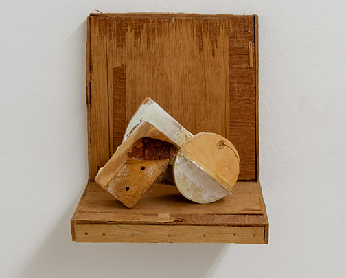 Richard Francisco / Richard Francisco Rilevatamente (2 parts)  1998  22.9 x 20.3 x 20.3 cm   wood and plaster