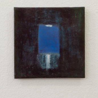 Joseph Egan / Joseph Egan  man in the moon  2013  20 x 20 x 1 cm various paints on canvasboard