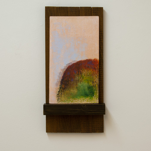 Joseph Egan / Joseph Egan a little farther  2012  50 x 24 x 7 cm painted wood and various paints and sand on panel