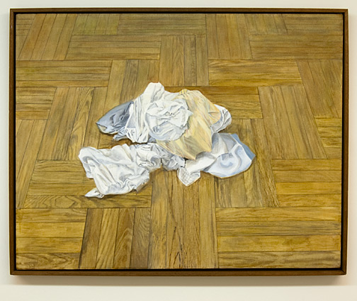 Sylvia Plimack-Mangold / Sylvia Plimack Mangold Floor with Laundry #2  1970 91.5 x 116.8 cm acrylic on canvas
