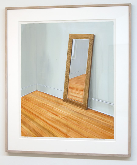 Sylvia Plimack-Mangold / Sylvia Plimack Mangold Mirrors, 21 July 73  1973 66 x 56.5 cm acrylic and pencil on paper