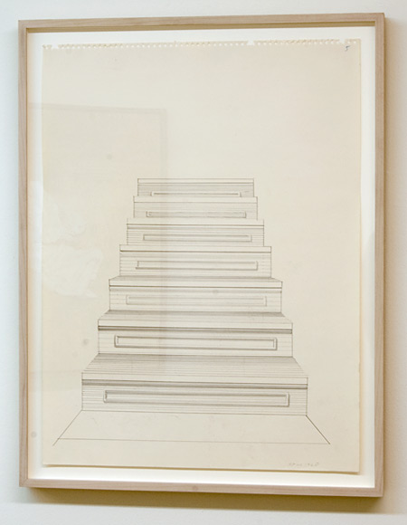 Sylvia Plimack Mangold / Sylvia Plimack Mangold Untitled (staircase)  1968 61 x 45.7 cm pencil on paper