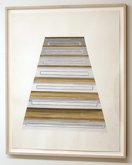 Sylvia Plimack-Mangold / Sylvia Plimack Mangold Untitled (staircase)  1968 73.6 x 58.5 cm acrylic and pencil on paper