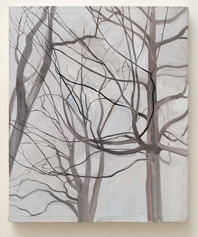 Sylvia Plimack-Mangold / Sylvia Plimack-Mangold The Locust Trees with Maple  1989 61 x 51 cm oil on canvas