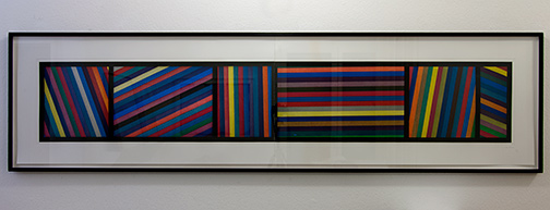Sol LeWitt / Bands of Lines in Different Directions  1996  50.8 x 210.8 cm color aquatint, Ed. 24 of 36, two parts