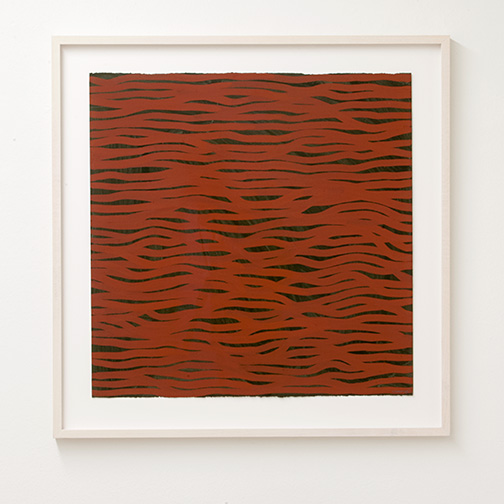 Sol LeWitt / Horizontal Brushstrokes (More Or Less)  2002  57 x 56.6 cm gouache on paper