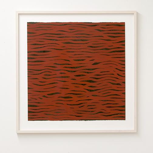 Sol LeWitt / Horizontal Brushstrokes (More Or Less)  2002  57 x 56.6 cm gouache on paper