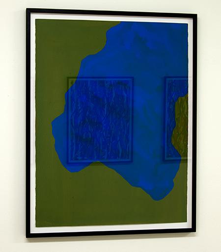 Sol LeWitt / Irregular Shape  1997  76.2 x 55.9 cm  gouache on paper