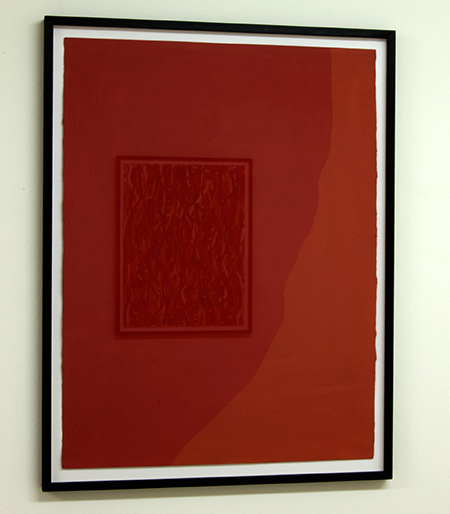 Sol LeWitt / Irregular Shape  1998  76.2 x 55.9 cm   gouache on paper